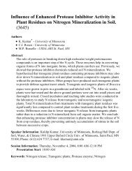 Influence of Enhanced Protease Inhibitor Activity in Plant Re...