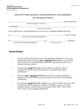 California gambling control commission key employee license casino general promotion