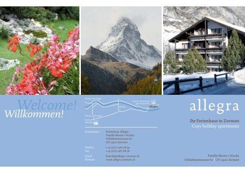 Welcome! Willkommen! - Ferienhaus Zermatt