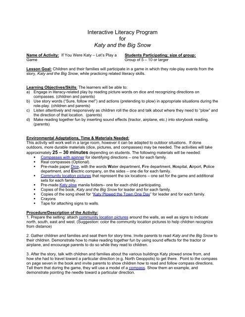 Interactive Literacy Lesson Plan - The Pennsylvania Center for the