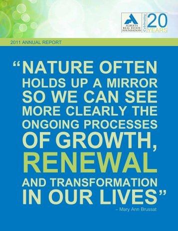 2011 Alberta Real Estate Foundation Annual Report