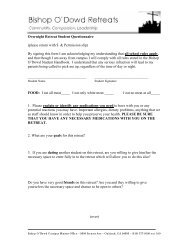 Overnight Retreat Student Questionnaire - Bishop O'Dowd High ...