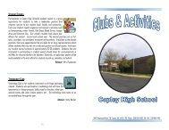 CHS 2012-2013 Activities Brochure - Copley-Fairlawn City Schools