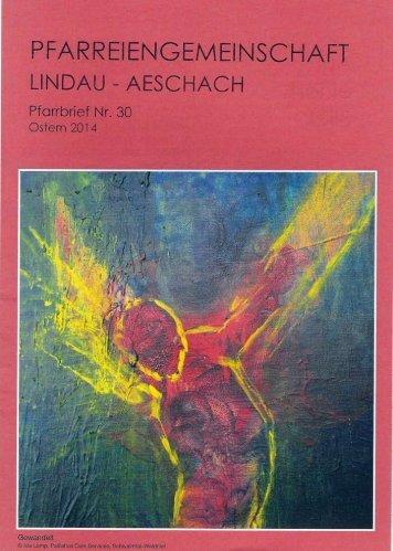 Osterpfarrbrief der Pfarreiengemeinschaft Lindau-Aeschach