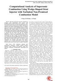 Computational Analysis of Supersonic Combustion Using Wedge ...