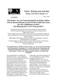 Sürther Aue wird zerstört - NABIS e.V.