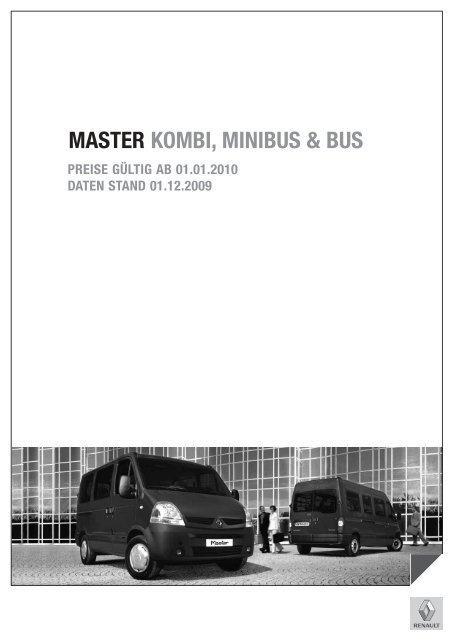 MASTER KOMBI, MINIBUS & BUS - Renault