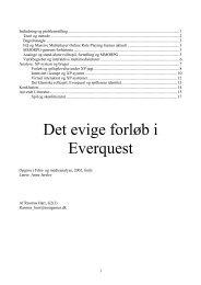 Indledning og problemstilling - Københavns Universitet