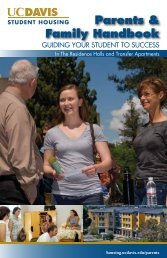 Parents & Family Handbook - UC Davis Student Housing