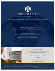 Differentiate yourself. - Thunderbird School of Global Management