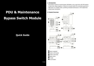 PDU & Maintenance Bypass Switch Module Quick Guide - Voltron