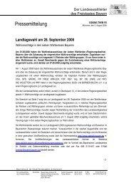 Wahlvorschläge in den sieben Wahlkreisen - Wahlen - Bayern