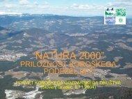 Branko Gradišnik, Zavod za gozdove Slovenije, 2004 ... - Natura 2000