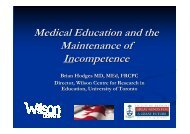 Medical Education and the Maintenance of Incompetence Aarhus