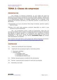 TEMA 2: Clases de empresas - Ecobachillerato