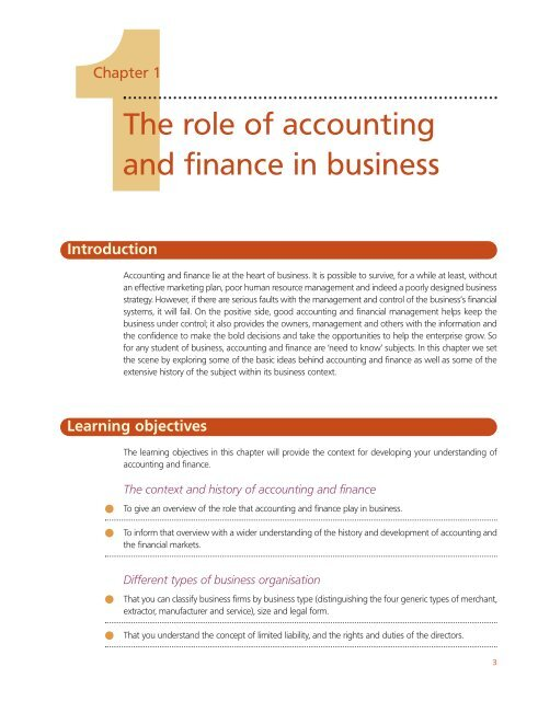 The Role Of Accounting And Finance In Business Cengage