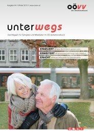 Das Magazin für Fahrgäste und Mitarbeiter im OÖ Verkehrsverbund