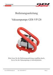 Bedienungsanleitung Vakuumpumpe GDI-VP128 - GDI Diamant ...