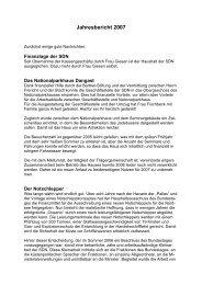 Jahresbericht 2007 - SDN