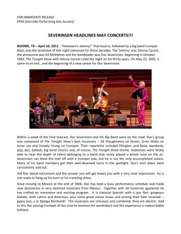 04.10.11 - Kerrville Performing Arts Society