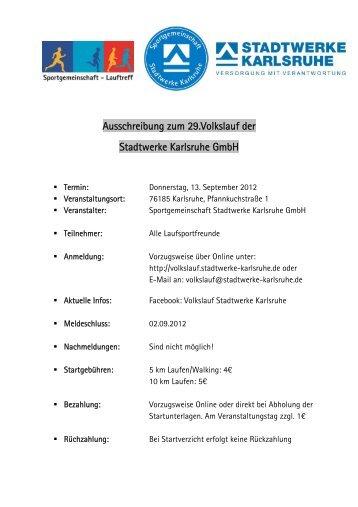 Ausschreibung zum 29.Volkslauf der Stadtwerke ... - Baden Marathon
