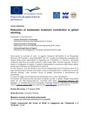 Reduction of wastewater treatment contribution to global warming