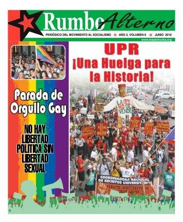 Periódico del movimiento al SocialiSmo año 2, volumen 9 Junio 2010
