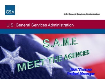GSA Presentation 2013 - SAME Seattle Post