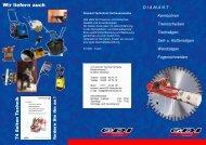 GDI Herdecke Lieferprogramm - GDI Diamant Technik Herdecke