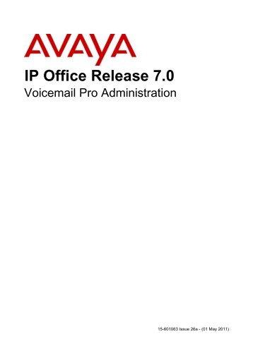ip office voicemail pro eta and pos avaya support rh yumpu com avaya voicemail pro user guide ipo voicemail pro user guide