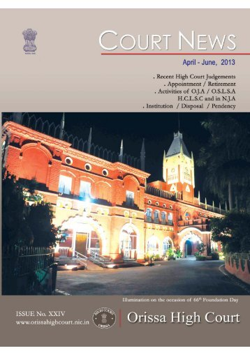 April to June 2013 For PDF.pmd - Orissa High Court