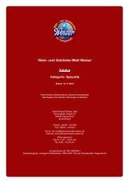 Katalog für Kategorie: Speyside - und Getränke-Welt Weiser