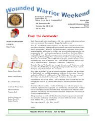From the Commander - Kent Island American Legion Post 278