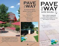 Pave the Way with Bricks - Lake Metroparks