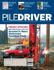 Awarded to Metro Wastewater Treatment Plant - Pile Driving ...