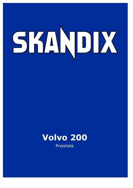 SKANDIX Preisliste: Volvo 200 - Volvo Club Romand