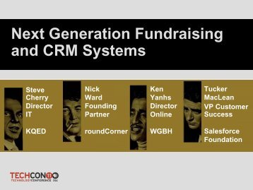 Next Generation Fundraising and CRM Systems - PBS
