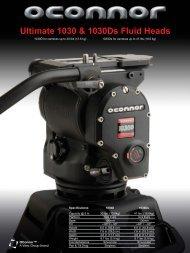 OConnor 1030D Fluid Head Flyer - Creative Video