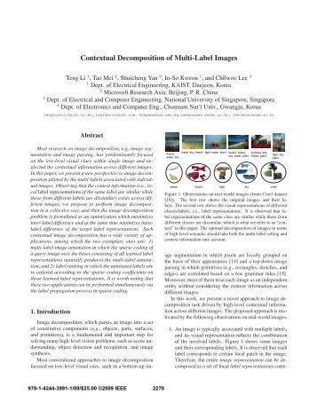 Contextual Decomposition of Multi-Label Images - IEEE Xplore