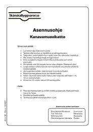 Kanavamuovikatto asennusohje - Netrauta.fi