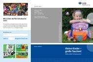 Kleine Kinder – große Taschen! - Unfallkasse Berlin