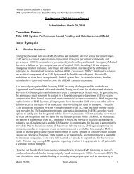 • The Education Agenda addresses only the initial ... - NHTSA EMS