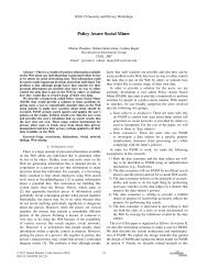 Policy Aware Social Miner - IEEE Computer Society's Technical ...