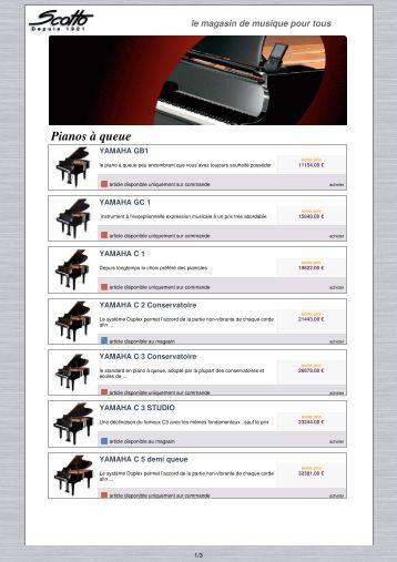 télécharger notre catalogue pianos à queue au ... - Scotto Musique
