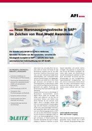 Neue Warenausgangsstrecke in SAP® im Zeichen ... - afi-stuttgart.de