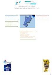 NATATION ESTIVALE Reglements et Calendriers 2013 - Fédération ...