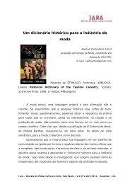 um dicionrio histrico para a indstria da moda - IARA - Revista de ...