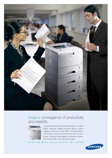 ML-4050N Leaflet.qxd (Page 2) - Digital Copiers