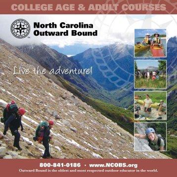 College Age & Adult Course Catalog - North Carolina Outward Bound