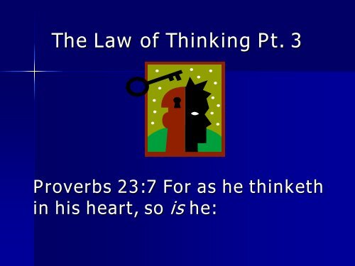 The Law of Thinking - Preach The Kingdom Network